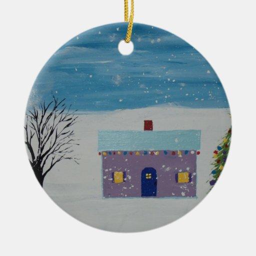 Little Christmas House Christmas Tree Ornaments
