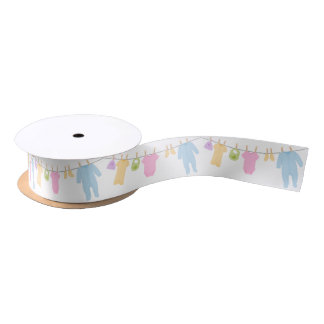 Little Clothes Baby Shower Satin Ribbon