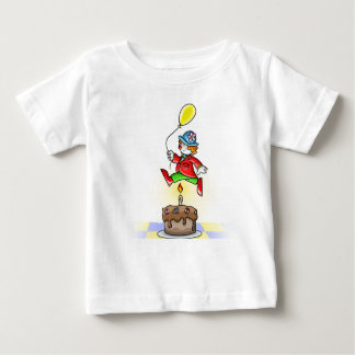 Little Clown Jumping Over Candle with Balloon Shirt