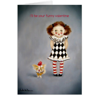 Little Clown Valentine's Day Card