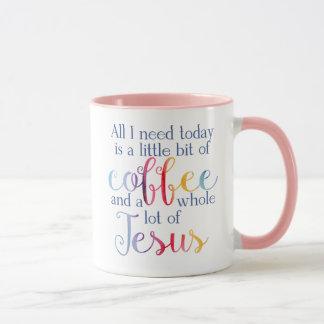 Little Coffee, Lot of Jesus Mug - Rainbow