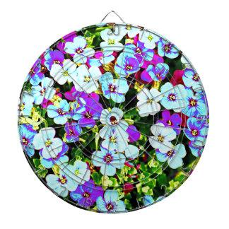 Little Colorful Flowers Dartboard