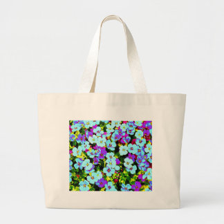 Little Colorful Flowers Large Tote Bag
