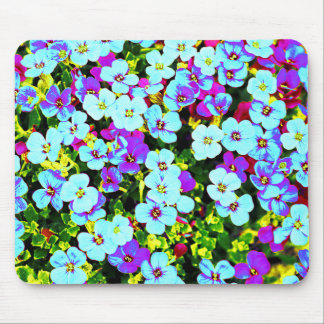 Little Colorful Flowers Mouse Pad