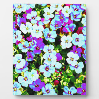 Little Colorful Flowers Plaque