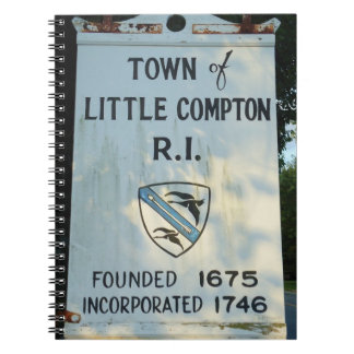 Little Compton, RI - Founded 1675 Spiral Notebook