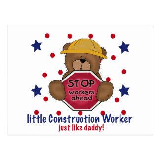 Little Construction Worker Like Daddy Postcard