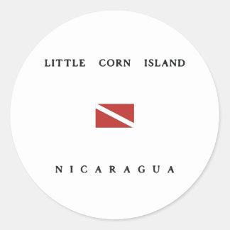 Little Corn Island Nicaragua Scuba Dive Flag Classic Round Sticker