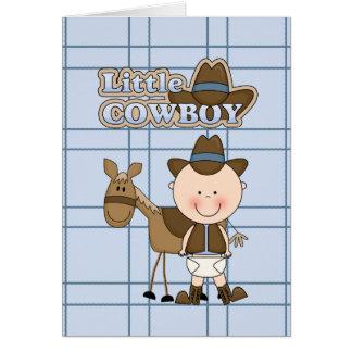 Little Cowboy Card BabyShower, New Baby, Congrats