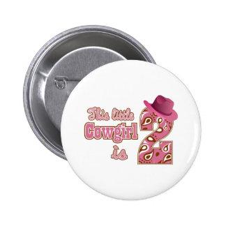 Little Cowgirl 2nd Birthday Pins