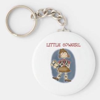 Little Cowgirl Basic Round Button Keychain