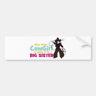Little Cowgirl, Big Sister Bumper Sticker