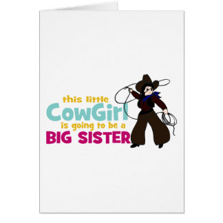 Little Cowgirl Big Sister Cards
