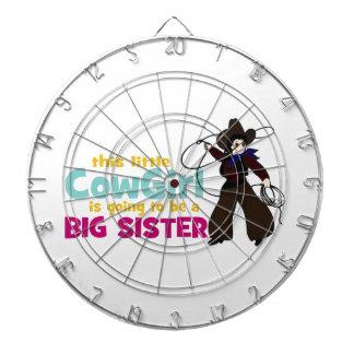 Little Cowgirl, Big Sister Dartboard