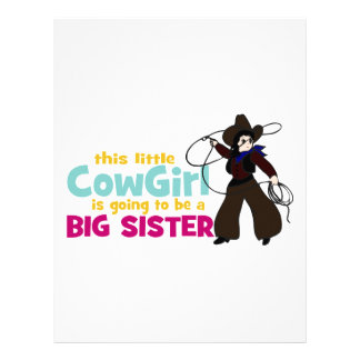 Little Cowgirl, Big Sister Customized Letterhead