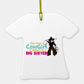 Little Cowgirl Big Sister Christmas Tree Ornaments