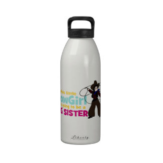 Little Cowgirl Big Sister Drinking Bottle
