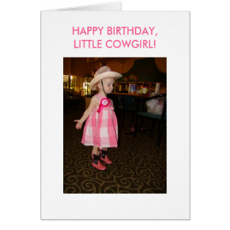 Little Cowgirl, Birthday Card