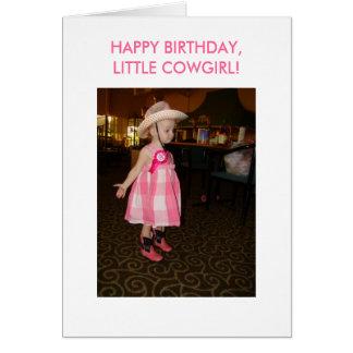 Little Cowgirl, Birthday Greeting Card
