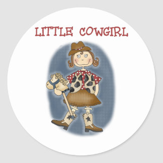 Little Cowgirl Classic Round Sticker