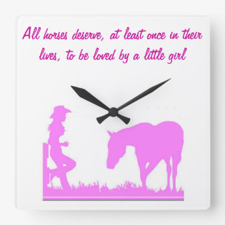 Little cowgirl clock