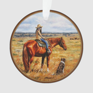 Little Cowgirl on Cattle Horse