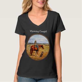 Little Cowgirl on Cattle Horse Tshirts