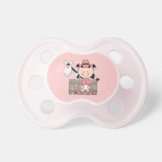 Little Cowgirl Pink Western Wear Baby Pacifier