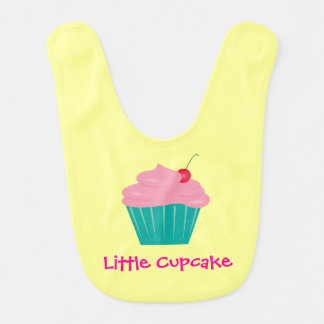 Little Cupcake, Pink and Teal Bib