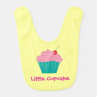 Little Cupcake, Pink and Teal Bib