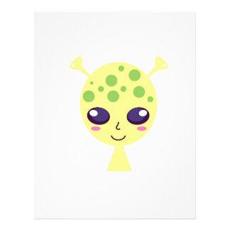Little cute alien Green edition Letterhead