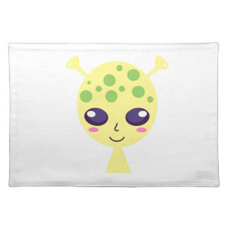 Little cute alien Green edition Placemat