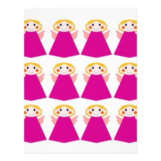 Little cute angels pink letterhead