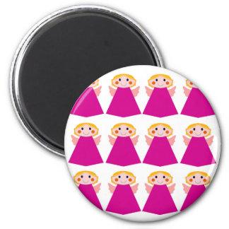 Little cute angels pink magnet