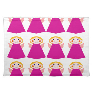 Little cute angels pink placemat