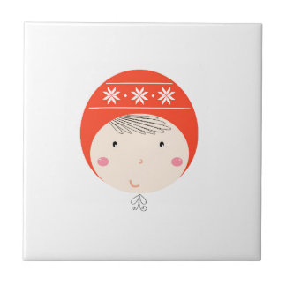 Little cute baby on white / Xmas edition Tile