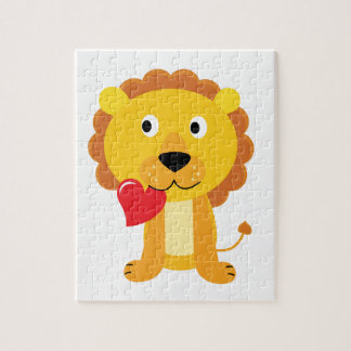 Little cute Lion kids design Jigsaw Puzzle