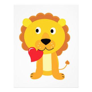 Little cute Lion kids design Letterhead