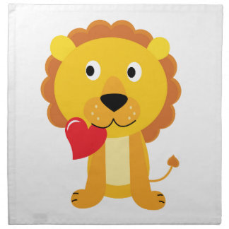 Little cute Lion kids design Napkin