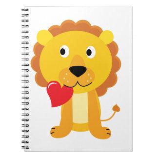 Little cute Lion kids design Notebooks