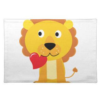 Little cute Lion kids design Placemat
