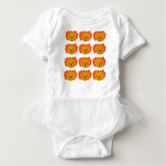 Little cute Lions on white Baby Bodysuit