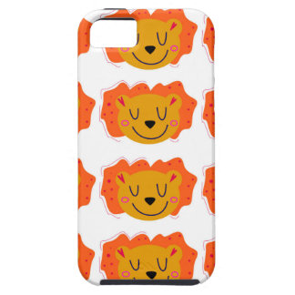 Little cute Lions on white Case For The iPhone 5