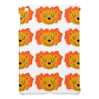 Little cute Lions on white Cover For The iPad Mini