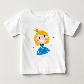 Little cute princess Blue Baby T-Shirt