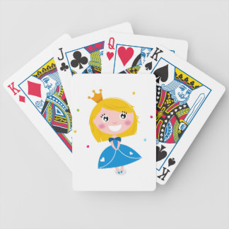 Little cute princess Blue Bicycle Playing Cards