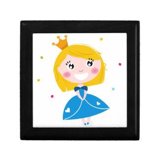 Little cute princess Blue Gift Box