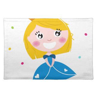 Little cute princess Blue Placemat