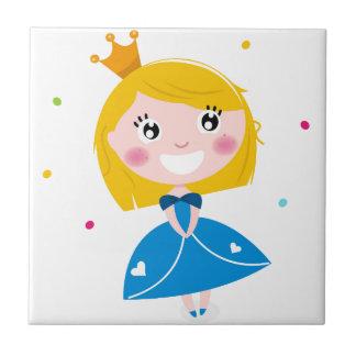 Little cute princess Blue Tile