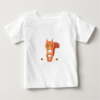 Little cute squirel on white baby T-Shirt